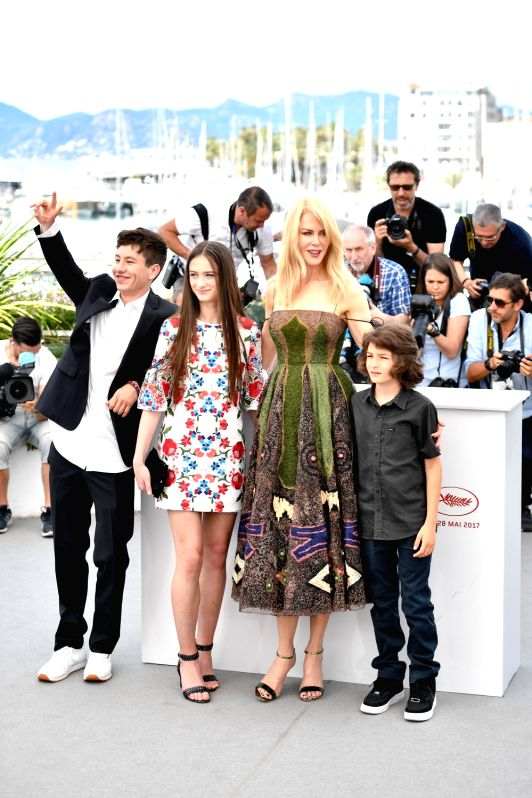 "CANNES, May 22, 2017 - Actress Nicole Kidman (2nd R) and cast members of the film ""The Killing of A Sacred Deer"" pose for photo in Cannes, France on May 22, 2017. The film ""The Killing ... - Nicole Kidman"