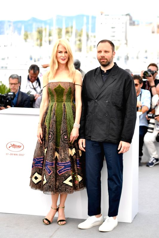 "CANNES, May 22, 2017 - Actress Nicole Kidman (L) and director Yorgos Lanthimos of the film ""The Killing of A Sacred Deer"" pose for photo in Cannes, France on May 22, 2017. The film ... - Nicole Kidman"
