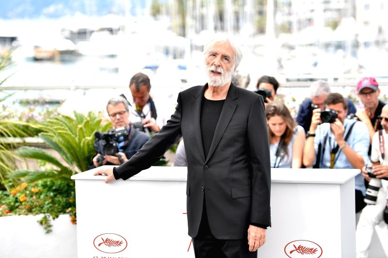 "CANNES, May 22, 2017 - Director Michael Haneke of the film ""Happy End"" poses for photos in Cannes, France, on May 22, 2017. The film ""Happy End"" directed by Austrian director ... - Michael Haneke"