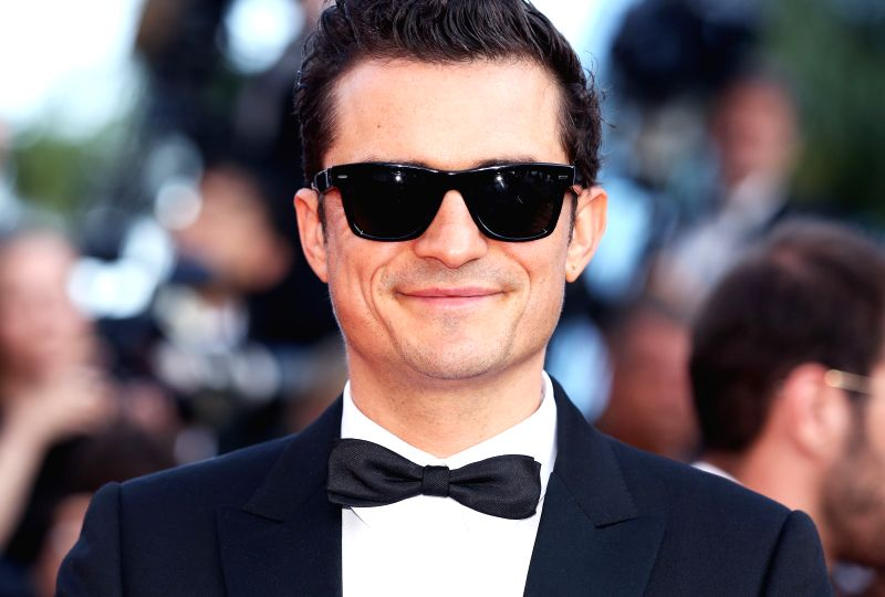 """CANNES, May 24, 2019 (Xinhua) -- Actor Orlando Bloom attends the premiere of Marco Bellocchio-directed film """"The Traitor"""" during the 72nd Cannes Film Festival in Cannes, France, May 23, 2019. """"The Traitor"""" will compete for the Palme d'Or with other 2"""