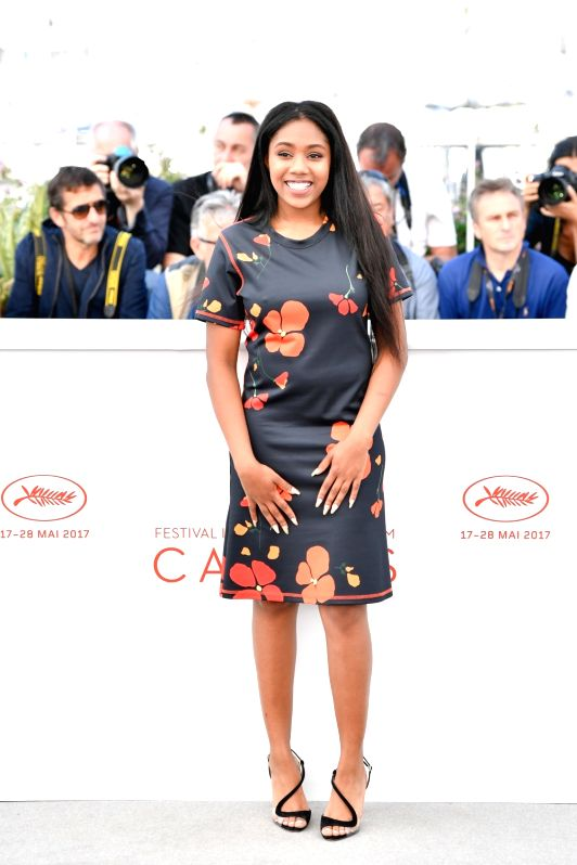 "CANNES, May 25, 2017 - Actress Taliah Webster of the film ""Good Time"" poses for a photocall in Cannes, France on May 25, 2017. The film ""Good Time"" co-directed by American ... - Taliah Webster"