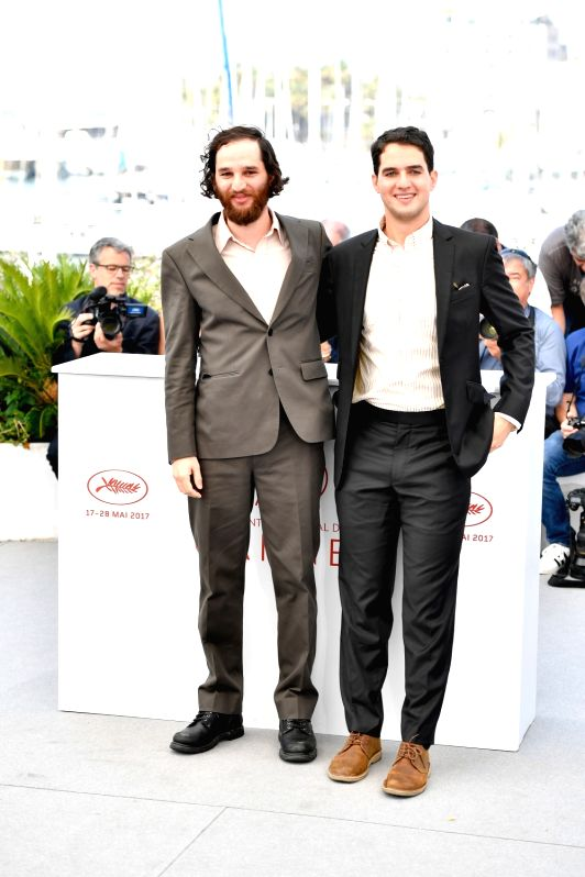"CANNES, May 25, 2017 - Directors of the film ""Good Time"", Josh Safdie (L) and Benny Safdie, pose for a photocall in Cannes, France on May 25, 2017. The film ""Good Time"" ..."