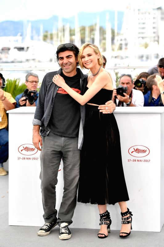 "CANNES, May 26, 2017 - Director Fatih Akin and actress Diane Kruger (R) of the film ""In the Fade"" pose for a photocall in Cannes, France on May 26, 2017. The film ""In the Fade"" ... - Diane Kruger"
