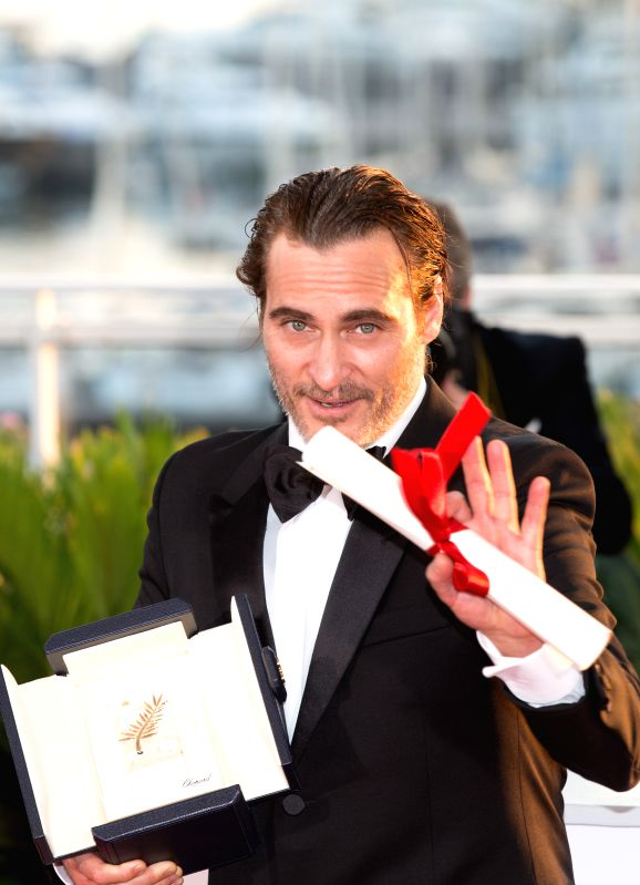 "CANNES, May 29, 2017 - Actor Joaquin Phoenix, winner of the Best Actor Award for the film ""You Were Never Really Here"", poses during a photocall at the 70th Cannes Film Festival in Cannes, ... - Joaquin Phoenix"