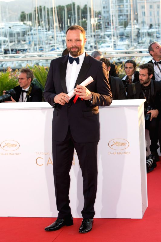 "CANNES, May 29, 2017 - Director Yorgos Lanthimos for the film ""The Killing of the Sacred Deer"", which won The Best Screenplay Award,  poses during a photocall at the 70th Cannes Film ..."