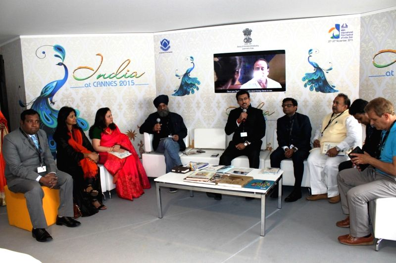 The Union Minister of State for Information and Broadcasting, Col. Rajyavardhan Singh Rathore inaugurates the Indian Pavilion at the 68th Cannes Film Festival 2015 in Cannes, France on May ... - Nandita Das and Rajyavardhan Singh Rathore