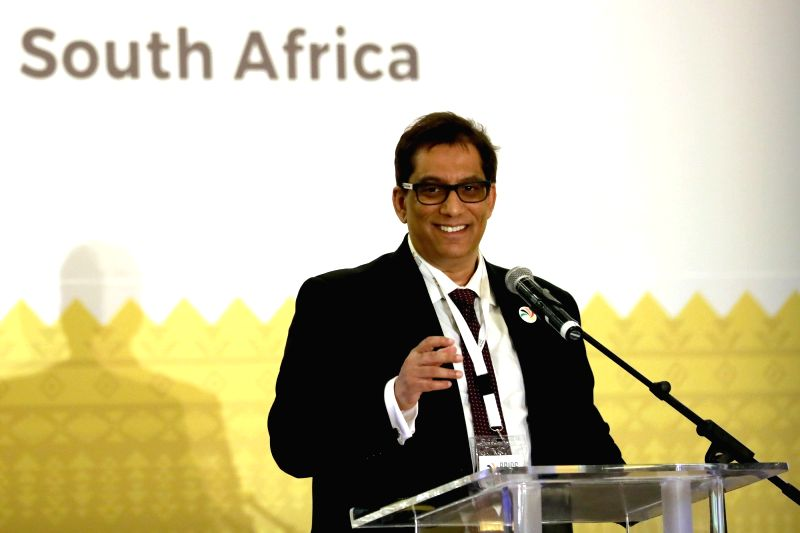 CAPE TOWN, July 18, 2018 - Iqbal Surve, co-chairman of the BRICS Media Forum and executive chairman of South Africa's Independent Media, addresses the 3rd BRICS Media Forum in Cape Town, South ...