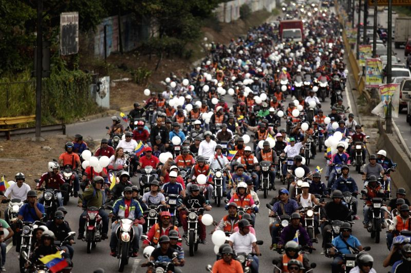 "(250214) The arrival of the ""great rally of motorcyclists ..."