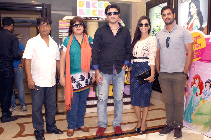 Cast of film `Identity Card` during the press conference of their film ``Identity Card`` in New Delhi on August 23, 2014.