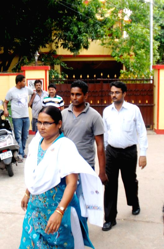 CBI officials conducting raids at houses of BJD MLA Pravat Tripathy in Cuttack on Aug. 16, 2014.