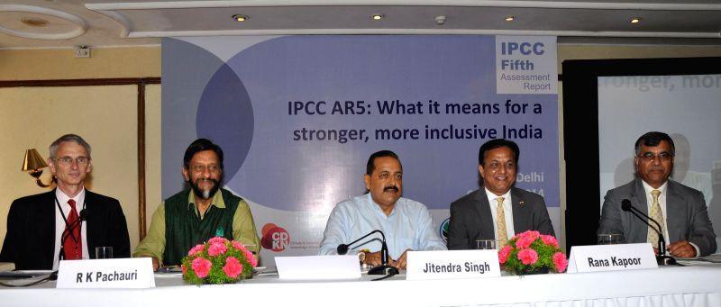 CDKN CEO Sam Bickersteth, director general of TERI R.K. Pachauri, Minister of State for Science and Technology (Independent Charge), Earth Sciences (Independent Charge), Prime Minister Office, ... - Office, Jitendra Singh and Kapoor