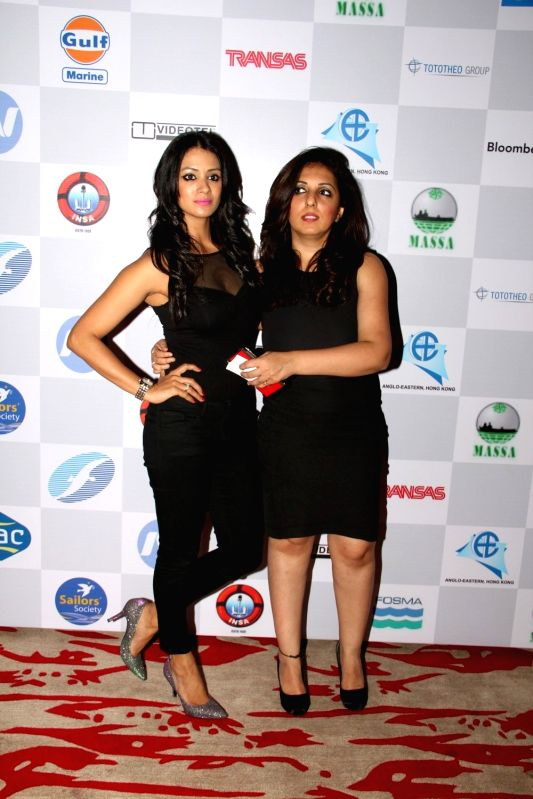 Celeb during 14th Sailor Today Sea Shore Awards 2015, in Mumbai on March 21, 2015.