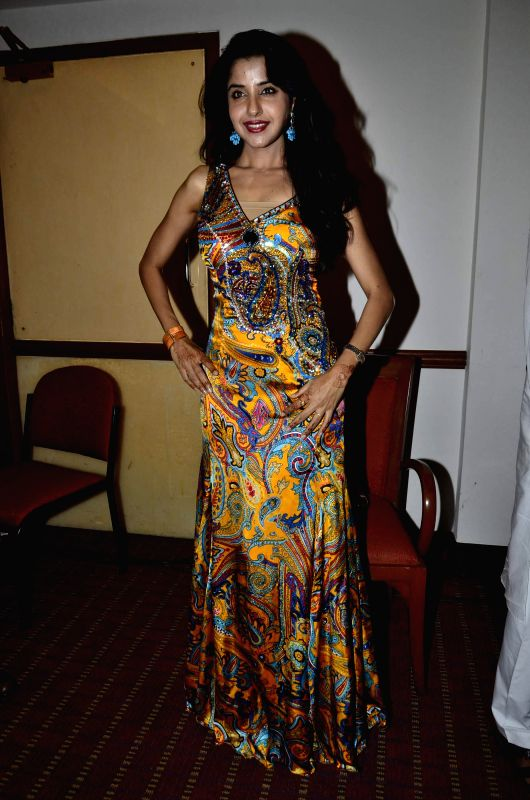 Celeb during the launch of film Love In Cairo in Mumbai, on Aug. 16, 2014.