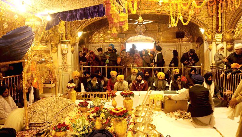 Celebrations of 350th birth anniversary of Guru Gobind Singh underway at the Golden Temple  in Amritsar, on Dec 28, 2014.