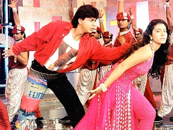 """Celebrity interior designer Gauri Khan on Thursday shared a still of actors Shah Rukh Khan and Kajol from their song """"Ye kaali kaali aankhen"""", revealing that she designed her husband's look for the hit track.(Photo: Twitter/@gaurikhan)"""