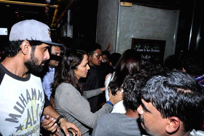 Celebs at Mana Madras Kosam Charity event at Inorbit Mall in Hyderabad.