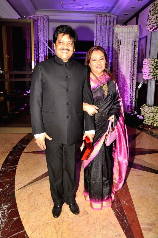 Celebs At Sunidhi Chauhans Wedding Reception At Taj Lands End Bandra Mumbai