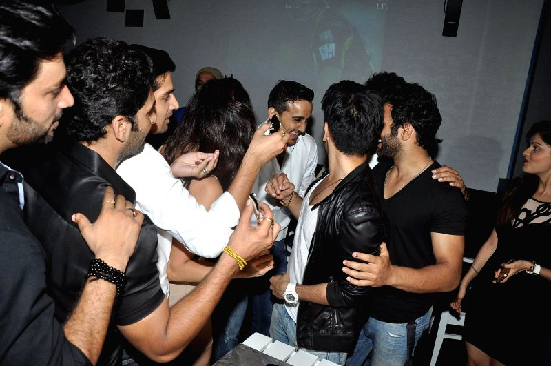 Celebs at the success party of Dilli Fukrey cricket team from Box cricket league (BCL) in Mumbai on April 26, 2014.