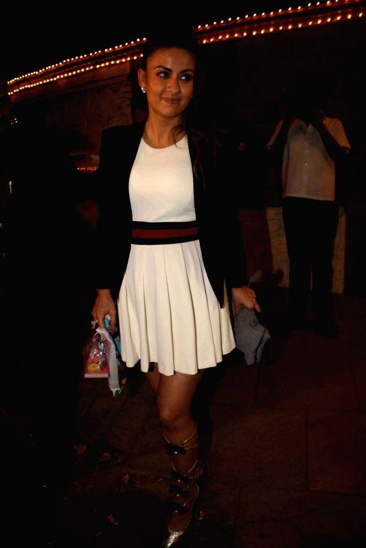 Celebs during Aishwarya Rai Bachchan`s daughter Aaradhya birthday celebrations in Mumbai on Nov 16, 2015. - Aishwarya Rai Bachchan