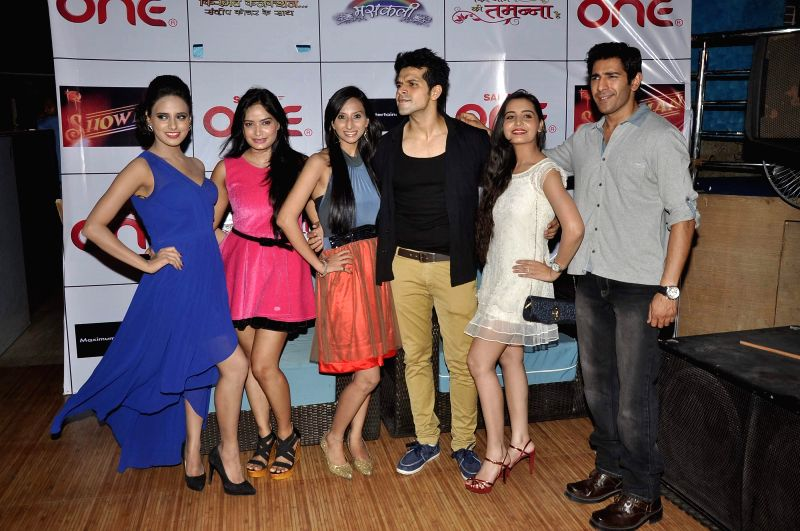 Celebs  during the launch of TV serials Phir Jeene Ki Tamanna Hai, Masakali & Kismat Konnection in Mumbai, on May 7, 2014.
