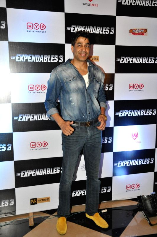 Celebs during the premiere of the film Expendables, in Mumbai, on Aug. 21, 2014.