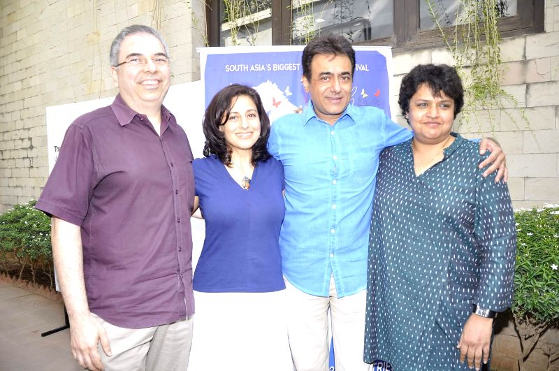 Celebs during the press meet of `Kashish Film Festival` in Mumbai, on May 14, 2014.