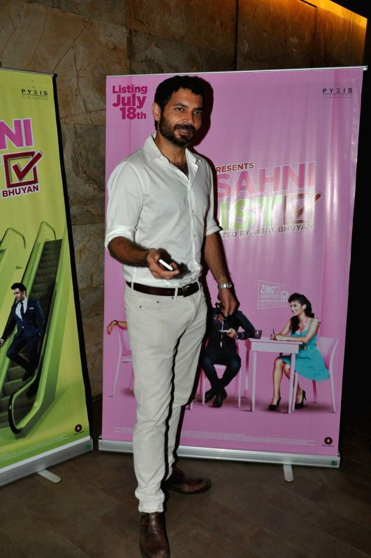 Celebs during the screening of film Amit Sahni Ki List at Lightbox in Mumbai on July 14, 2014.