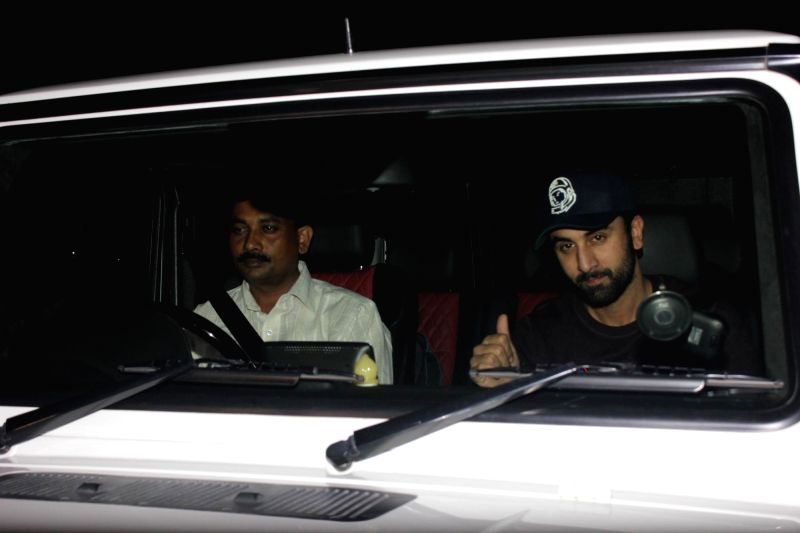 Celebs during the screening of film Tamasha in Mumbai on Nov 26, 2015.
