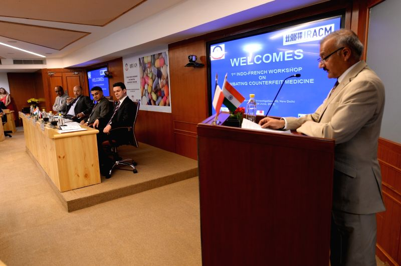 Central Bureau of Investigation (CBI) Director Anil Sinha addresses during the inauguration of the Indo-French workshop on ``Combating Counterfeit Medicine`` in New Delhi on June 24, 2015. - Sinha