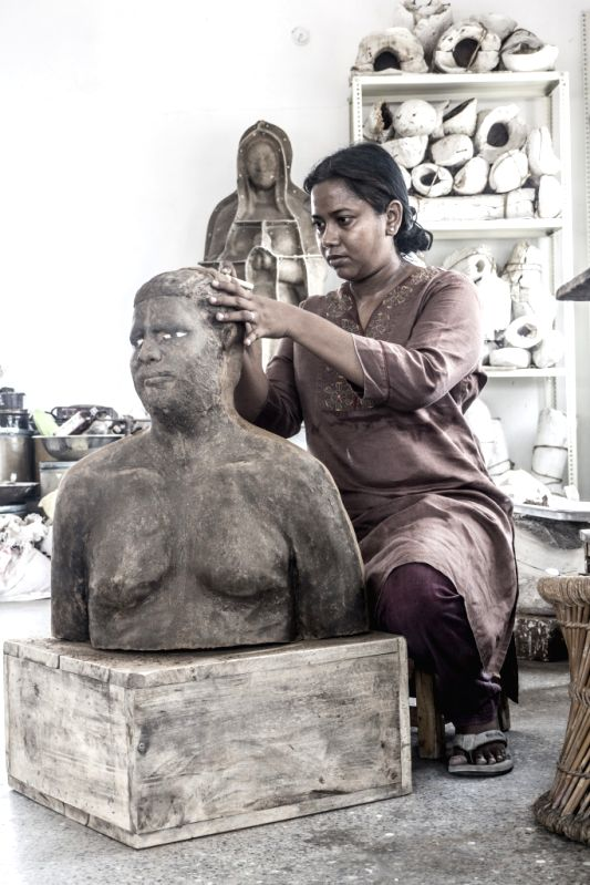 Ceramic artist Benitha Perciyal  from Chennai.  (Photo Source: Indian Ceramics Triennale) - Benitha Perciyal