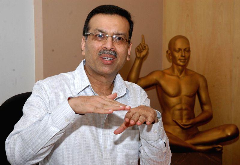CESC chairman Sanjiv Goenka during a press conference in Kolkata on Aug 21, 2014.