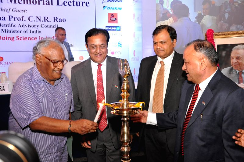 Chairman of Scientific Advisory Council of Prime Minister of India, Bharata Ratna Dr. CNR Rao lights the inaugural lamp to inaugurate ASSOCHAM's 17th JRD Tata Memorial Lecture in New Delhi on Aug 5, . - Kapoor