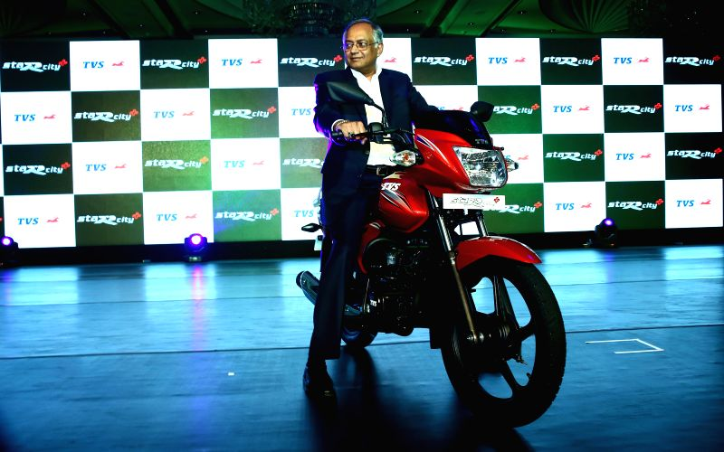 Chairman of TVS Motors Venu Srinivasan during launch of a new brand of bike in Chennai on May 5, 2014.