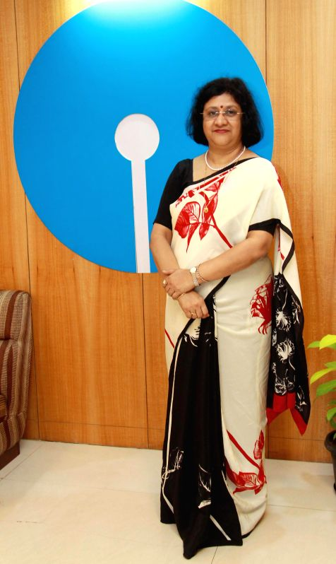 Chairman, State Bank of India Arundhati Bhattacharya during a press conference at SBI head office in Bangalore on April 26, 2014.