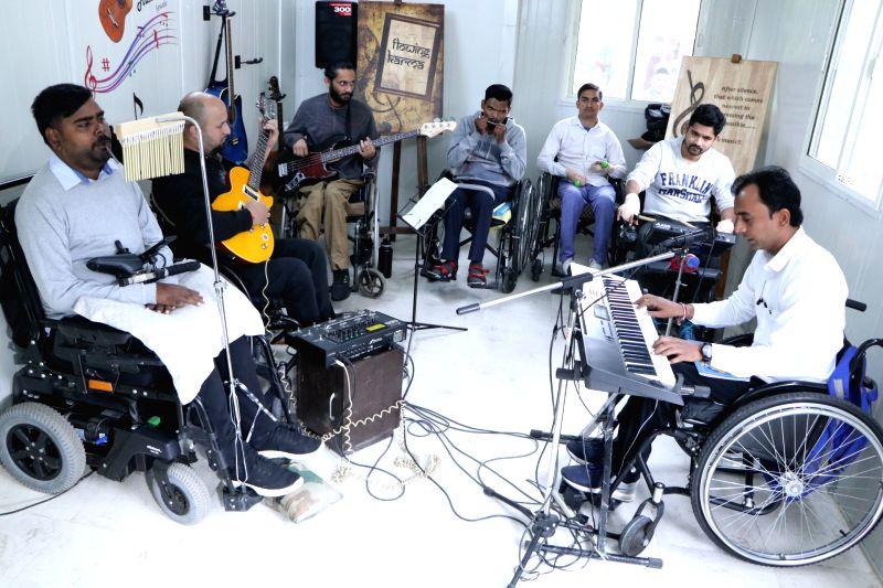 Chandigarh: Flowing Karma performing at Chandigarh Spinal Rehab, Sector 28 on Nov 21, 2019. (Photo: IANS)