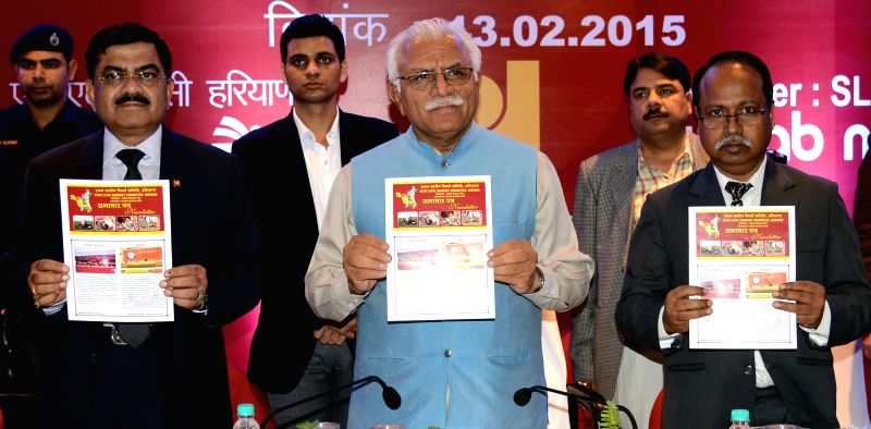 Haryana Chief Minister Manohar Lal Khattar during the 131st meeting of State Level Bankers Committee, (Haryana) in Chandigarh, on Feb 13, 2015. - Manohar Lal Khattar