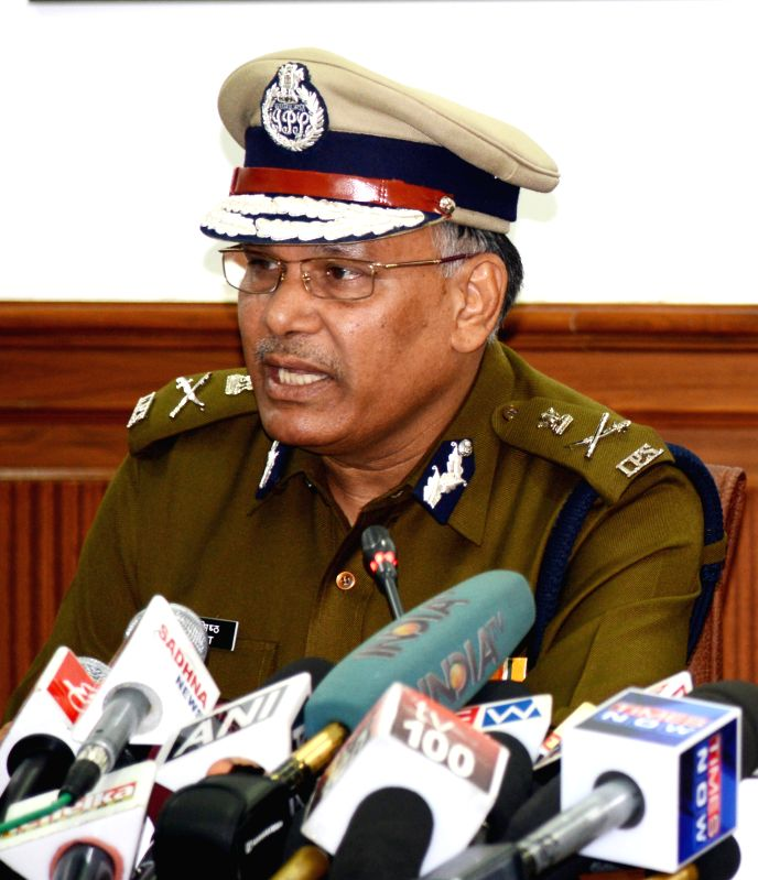 Haryana Director General Police S.N.Vashisth addresses a press conference in Chandigarh on Nov 19, 2014.