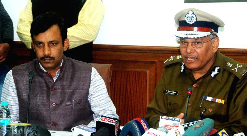 Haryana Director General Police S.N.Vashisth addresses a press conference in Chandigarh on Nov. 20, 2014.