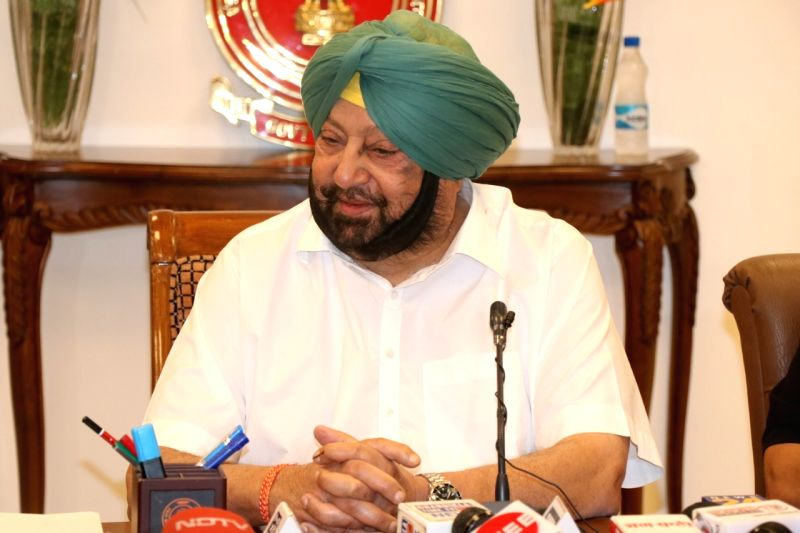 Chandigarh: Punjab Chief Minister Amarinder Singh addresses a press conference, in Chandigarh, on May 23, 2019.