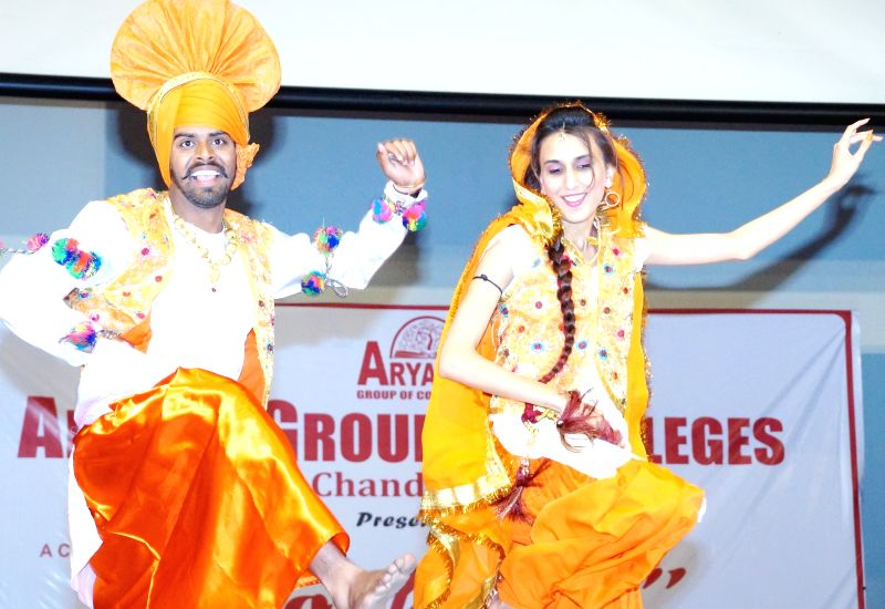 Students perform `Roshaan` - 8th Annual Cultural Extravaganza in Chandigarh, on March 26, 2015.