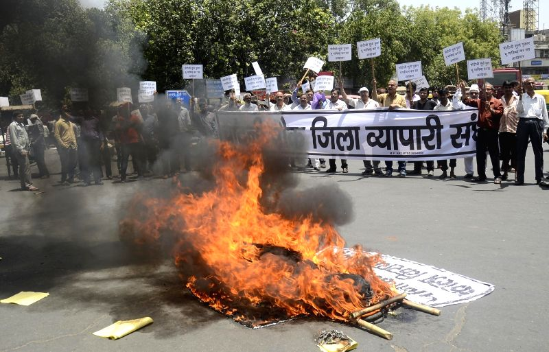 Chandni Chowk shopkeepers' protest against new Delhi Rent Control Act