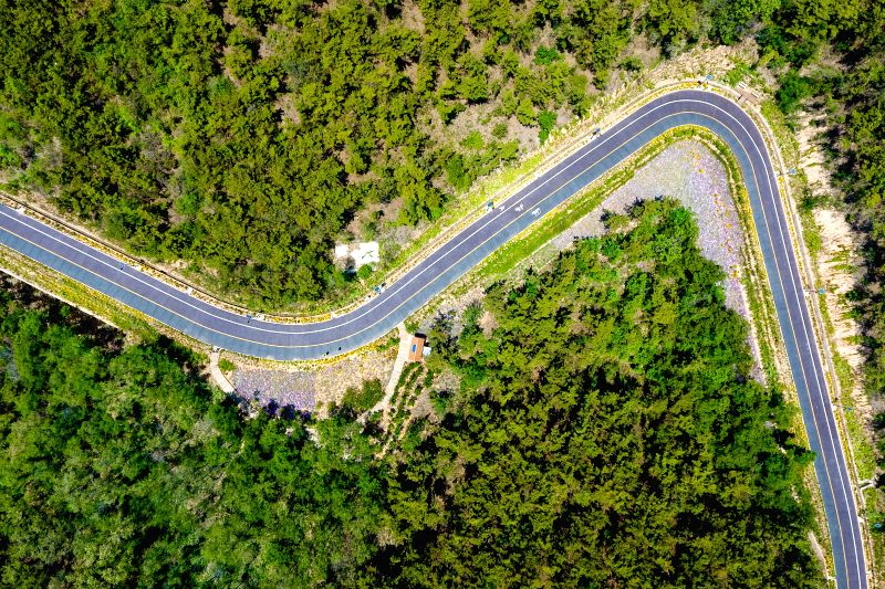 CHANGDAO, May 29, 2017 - A path is seen on south Changshan island in Changdao County, east China's Shandong Province, May 26, 2017. As the only island county in Shandong Province, Changdao government ...