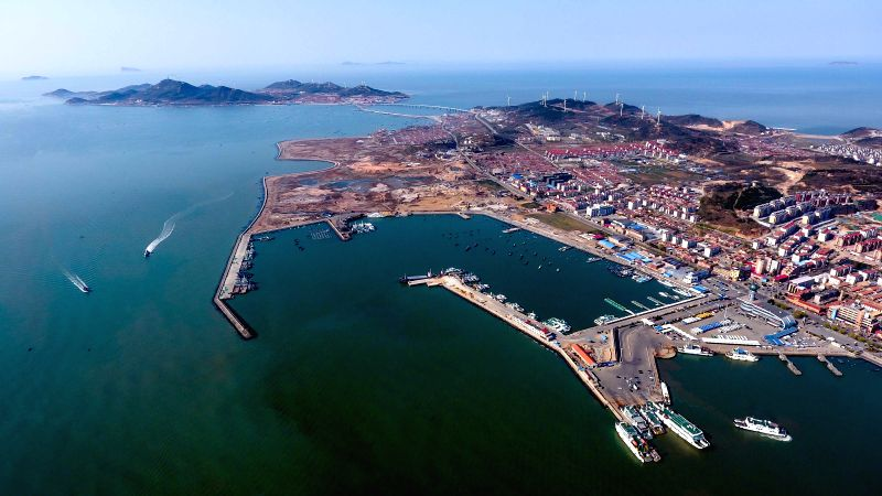 CHANGDAO, May 29, 2017 - The tourist harbour is seen in Changdao County, east China's Shandong Province, April 28, 2017. As the only island county in Shandong Province, Changdao government took the ...