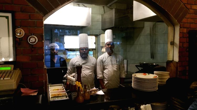Chef Balbir and his team at the Willow Cafe live kitchen