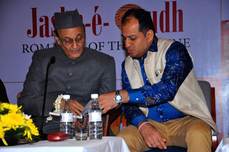 "Chef Sunil Soni and Rajya Sabha member and Congress leader Dr Karan Singh during a programme organised to release  ""Jashn-e-Oudh"" - a book in New Delhi, on Dec 4, 2015. (Photo: IANS) - Karan Singh"