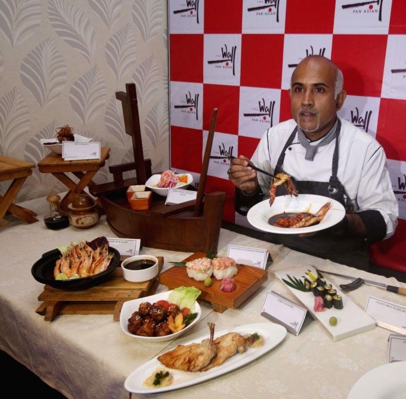 Chef Sushanta Sengupta during a Japanese Food Festival in Kolkata on Aug 9, 2016.