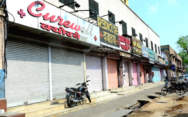 Chemist shops remain closed during a day long strike called to protest against stringent regulations on the sale of medicines, in Jaipur, on May 30, 2017.