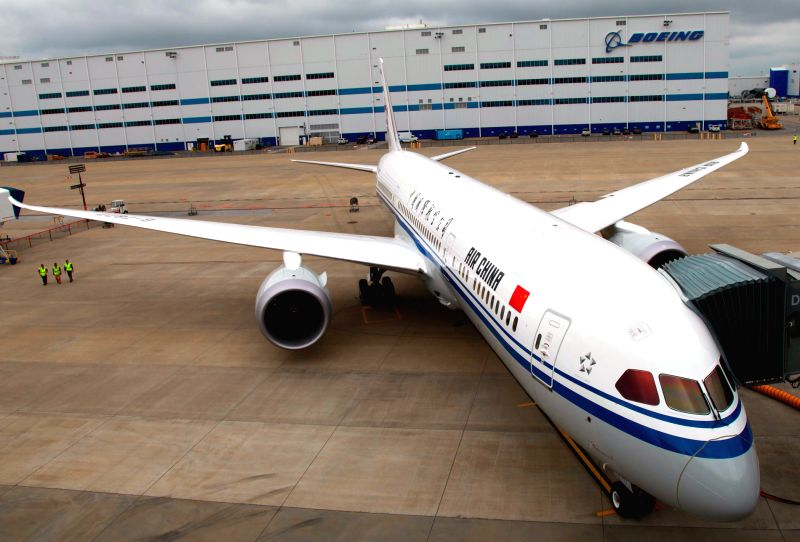 CHENGDU, May 26, 2016 - Photo taken on May 19, 2016 shows Air China's Boeing 787-9 Dreamliner. Air China's newest medium-sized Boeing 787-9 aircraft made its first flight from Beijing to Chengdu on ...