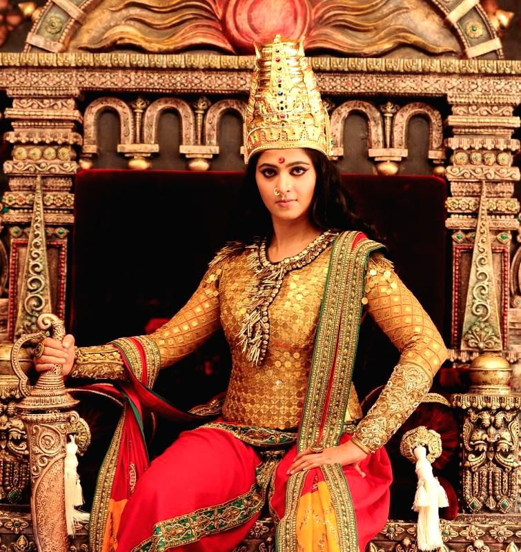 A still from upcoming mutlilingual film `Rudramadevi` featuring  actress Anushka. - Anushka