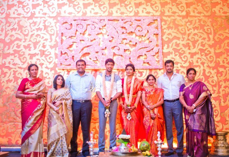Actor Allari Naresh engagement at Leela Palace hotel in Chennai.